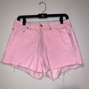 Vintage polo high waisted distressed shorts